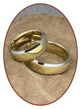 Forever Love Collection Tungsten Carbide Relatie Trouw Ringen Set - AA002