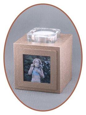 Midi Urn Met Foto en Theelicht Houder Inhoud 1 Ltr. - HM383