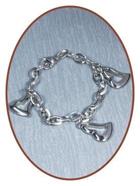 Edelstalen RVS Dames As Armband - AB168