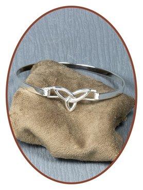 925 Sterling Zilveren Armband met asverwerking - AB087