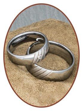 Forever Love Collection Tungsten Carbide Relatie Trouw Ringen Set - AA003