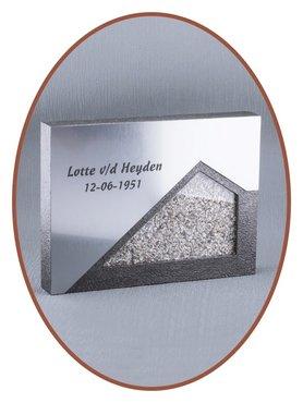 Midi (Wand) As Urn met Glas en RVS-Look Front  - HM348