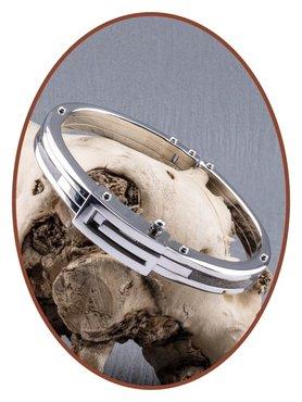 Edelstalen Cuff Style RVS Heren Asarmband  - ASB001