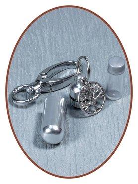 Aluminium Askoker / Sleutelhanger 'Levensboom' - ALU03L