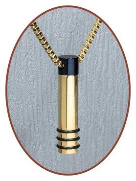 Edelstalen/RVS JB Memorials Premium Gold Black Ashanger - G002