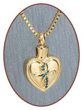 Edelstalen/RVS Gold 'Heart' Ashanger - G012