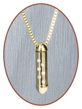 Edelstalen/RVS JB Memorials Premium Gold Zirconia Ashanger - G017