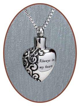 Edelstalen/RVS 'Always in my heart' Ashanger - B026