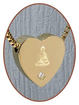 Edelstalen/RVS 'Buddha' Hart Ashanger Goudkleur - G304CZ-H