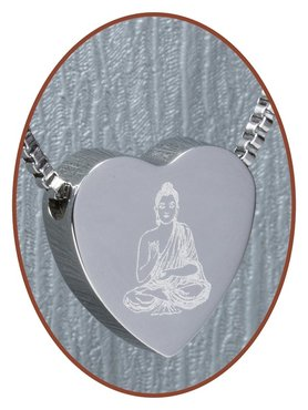 Edelstalen/RVS 'Buddha' Hart Ashanger - B304H