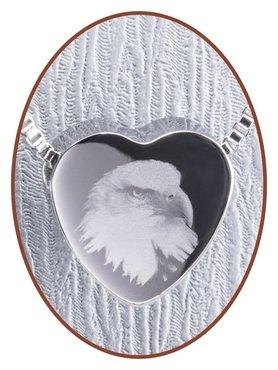 Edelstalen/RVS 'Eagle' Hart Ashanger - B304EAG