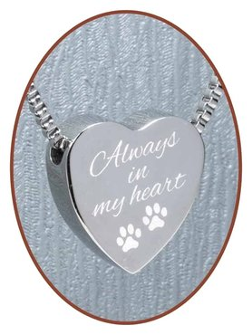 Edelstalen/RVS 'Always in my heart' Dieren Ashanger - B304AD
