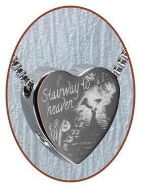 Edelstalen/RVS 'Stairway to heaven' Hart Ashanger - B304W