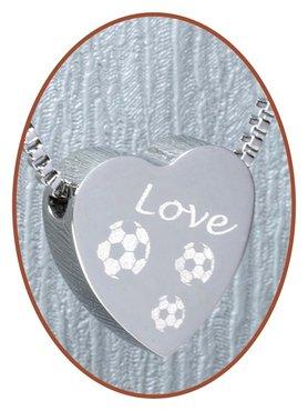 Edelstalen/RVS 'Love Voetbal' Hart Ashanger - B304S