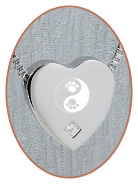 Edelstalen/RVS 'Yin Yang/Poot' Hart Ashanger - B304CZ-X1