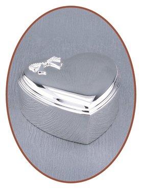 Graveerbare Memory Box / Mini Urn 'Heart' - M383
