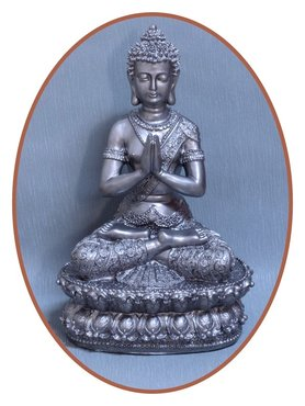 Midi Urn/ Memorybeeld Thai 'Buddha' 35cm Buckle-Bronze - BU018-H1