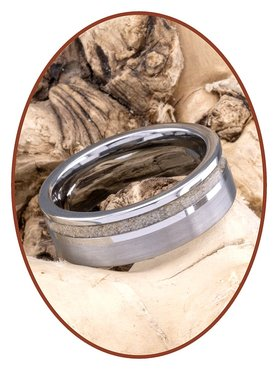 JB Memorials Tungsten Carbide Heren As Ring - WR010