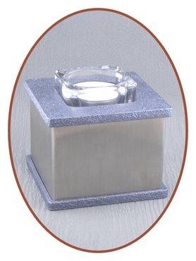 Edelstalen (RVS) Urn 'Square' - HM408