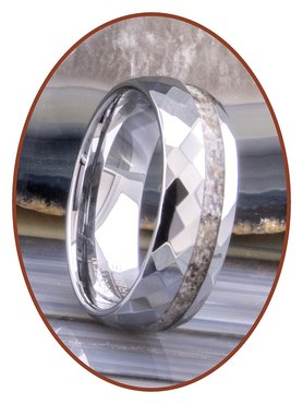 JB Memorials Tungsten Carbide Facet Dames / Heren As Ring - WR001