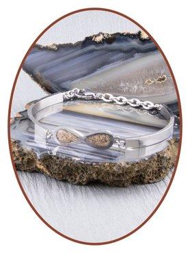 Edelstalen RVS Dames As Armband Infinity - ASB019