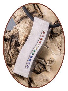 Titanium JB Memorials Exclusive 'Rainbow Wave' Design Ashanger - T012