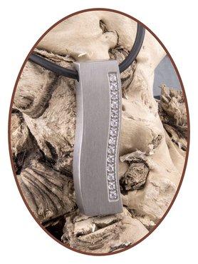 Titanium JB Memorials Premium 'Silver Wave' Design Ashanger - T010