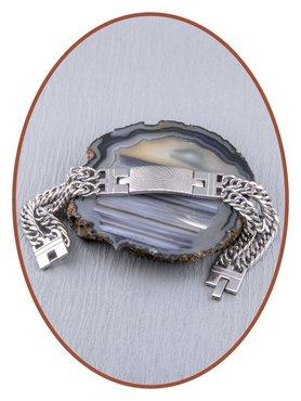 Edelstalen RVS  Heren Vingerafdruk Gedenk Armband - GED005