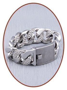 Edelstalen RVS  Heren Vingerafdruk Gedenk Armband - GED003