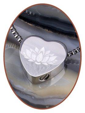 Edelstalen/RVS 'Lotus' Hart Ashanger - B304NL