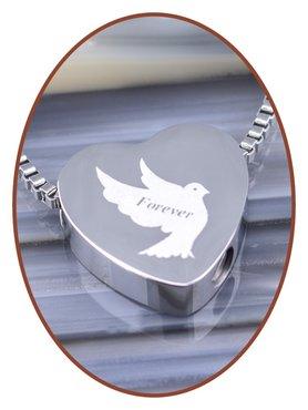Edelstalen/RVS 'Forever' Hart Ashanger - B304M