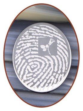 Edelstalen Spiegelgepolijst Graveerplaatje - GR008