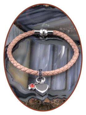 Gevlochten Nappa Lederen Dames As Armband - ZMA243