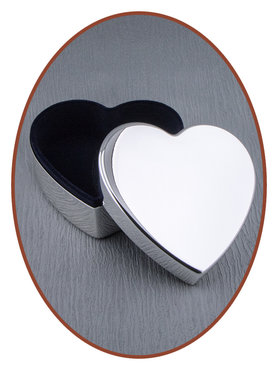 Graveerbare Memory Box / Mini Urn 'Heart' - M393