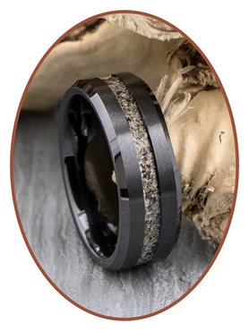 JB Memorials Ceramic Zirconium Heren As Ring - RB048B