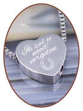 Edelstalen/RVS 'Ik zal je nooit vergeten' Hart Ashanger - B304DH