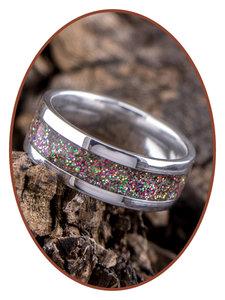 JB Memorials Edelstalen Dames / Heren As Ring 'Colorfull' - CRA001