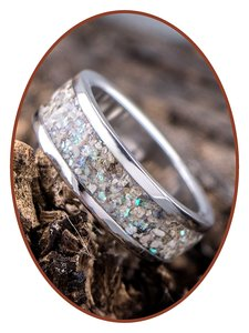JB Memorials Edelstalen Dames / Heren As Ring 'Sparkling' - CRA004