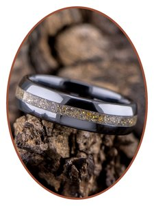 Ceramic Zirconium Uni As Ring (Gold)  - TC01G