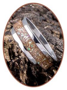 JB Memorials Edelstalen As Ring 'Sparkling Bronze' - CRA007