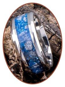 JB Memorials Edelstalen As Ring 'Sky Blue Glow' - CRA013