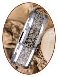 JB Memorials Tungsten Carbide Heren As Ring - RB140