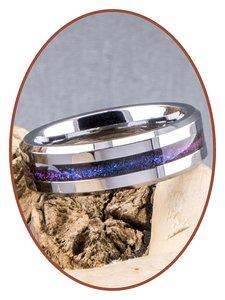 JB Memorials 6mm Tungsten Carbide Chroma Kleuren Dames  As Ring - RB048CHR