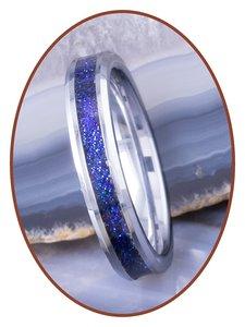 JB Memorials Tungsten Carbide Dames As Ring 'Chameleon' 4mm - RB143C
