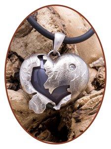 Close2Me© 'Broken Heart' Vintage Sterling Zilveren Ashanger - CM011