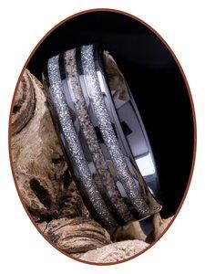 JB Memorials Exclusive Black Ceramic Zirconium As Ring - WR015B