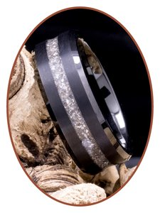 JB Memorials Ceramic Zirconium Heren As Ring - RB048TB