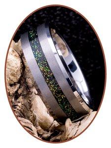JB Memorials Tungsten Carbide Heren  As gedenk Ring met Gesatineerde afwerking - RB048MG