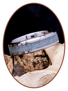 JB Memorials Tungsten Carbide 'Holographic'  As Ring - RB057