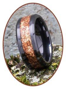 JB Memorials Ceramic Zirconium Heavenly Treasures As Ring 8mm - RB141HT